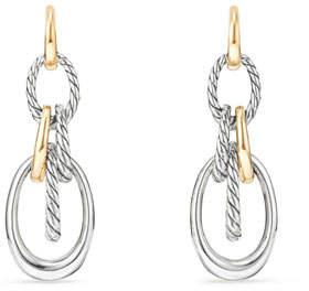 David Yurman Pure Form Convertible Link Drop Earrings w/ 18k Gold