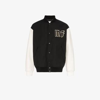 MONCLER GENIUS 7 Moncler Fragment letterman bomber jacket