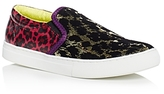 Marc Jacobs Mercer Leopard-Print Embellished Slip-On Sneakers