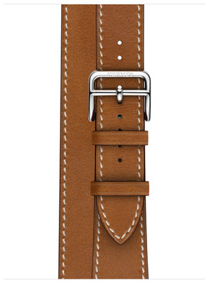 Apple Watch Herms - 40mm Fauve Barnia Leather Double Tour