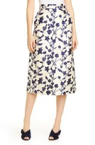 Brock Collection Floral Embroidered Pencil Skirt