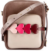 Anya Hindmarch The Stack Camera Bag with Heart Links, Light Brown