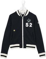 Moncler mermaid print bomber jacket - kids - Cotton/Polyester/Spandex/Elastane - 14 yrs