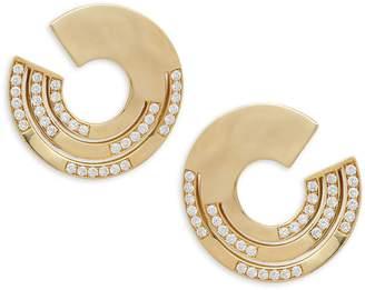 Ippolita Senso 18K Yellow Gold Diamond Disc Hoop Earrings