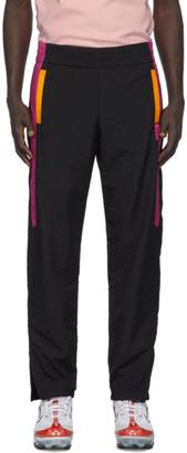 GCDS Black and Pink Nylon Track Pants
