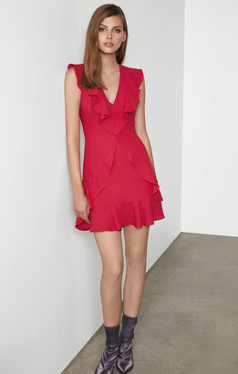 BCBGMAXAZRIA Tyrah Sleeveless Ruffle Dress