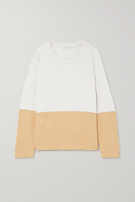 Leset Lori Two-tone Brushed Stretch-knit Sweater - Sand