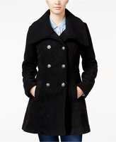 Amy Byer Juniors' Fit & Flare Peacoat
