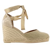 Castaner Carina Wedge Espadrilles In Canvas With Laces