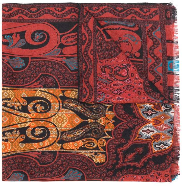 Etro wide printed scarf