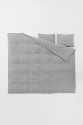 H&M Flannel Duvet Cover Set