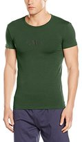 Emporio Armani Men's Stretch Cotton Logo Crew Neck T-Shirt