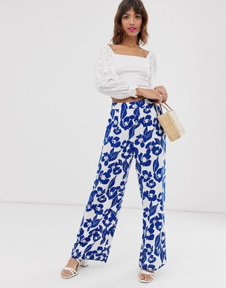 Ichi floral trousers-Multi