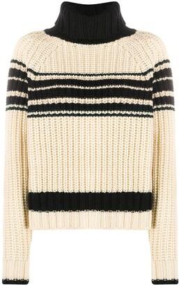 Essentiel Antwerp Striped Ribbed-Knit Jumper