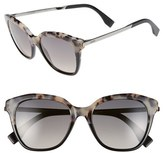 Fendi Women's 52Mm Retro Sunglasses - Havana/ Black/ Ruthenium