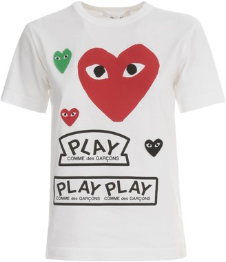 Comme des Garcons Ladies T-shirt Big Heart And Play Logo