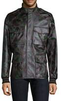 Tomas Maier Camo-Print Leather Jacket