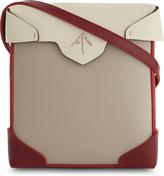 Manu Atelier Mini Pristine leather and suede cross-body bag