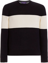 Ralph Lauren Purple Label Striped Cashmere Sweater