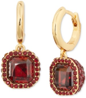 Kate Spade Gold-Tone Pave & Square Crystal Drop Earrings