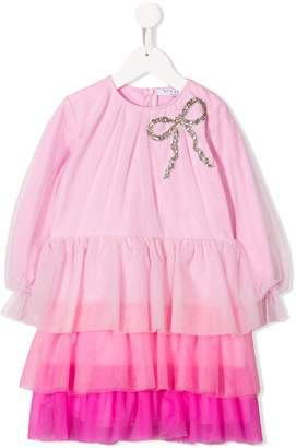 Vivetta Kids embellished bow-tie tulle dress