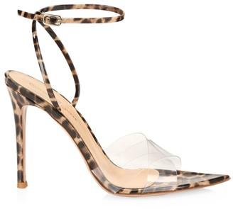 Gianvito Rossi Stark Leopard-Print Leather & PVC Sandals