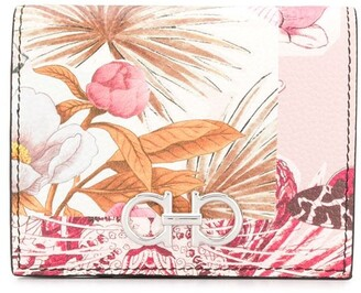 Salvatore Ferragamo floral-print Gancini wallet