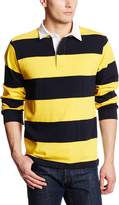 Charles River Apparel Men's Classic Rugby Shirt, Black/White