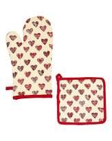 Fashion World Amour Glove & Potholder