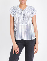 Ulla Johnson Eugenie striped cotton-gauze blouse