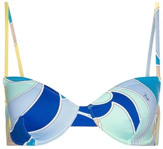Emilio Pucci Beach Quirimbas print bikini top