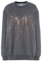 Stella McCartney gray crew neck hot fix sweater