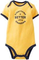 Carter's Slogan Bodysuit (Baby) - Yellow-Newborn