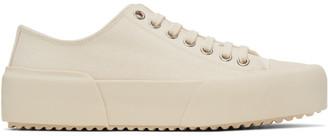 Jil Sander Off-White Canvas Sneakers