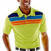 JCPenney St. Andrews of Scotland Golf Striped Polo Shirt
