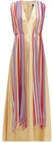M Missoni Vintage-scarf Silk-blend Lame Maxi Dress - Womens - Multi