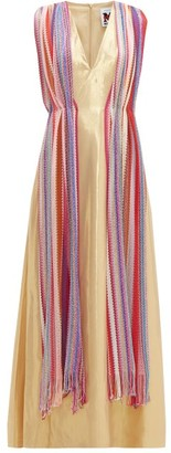 M Missoni Vintage-scarf Silk-blend Lame Maxi Dress - Multi