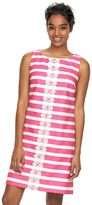 Jessica Howard Women's Embroidered Stripe Shift Dress