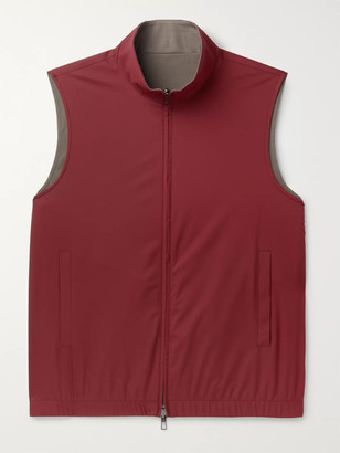 Loro Piana Reversible Storm System Shell and Super Wish Virgin Wool Gilet - Men - Burgundy