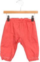 Bonpoint Girls' Embroidered-Trim Straight-Leg Pants
