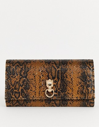 Dragon Optical ASOS DESIGN snake effect purse with detail