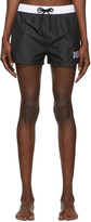 Diesel Black and White Sandy Swim Shorts