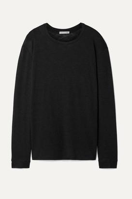 FRANCES DE LOURDES Marlon Slub Cashmere And Silk-blend Top - Black