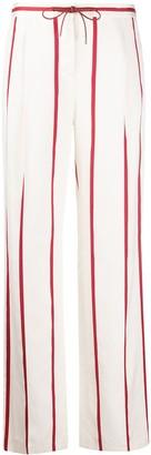 Loro Piana Tie Waist Striped Print Trousers