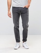 Asos Stretch Slim Jeans In Mid Grey