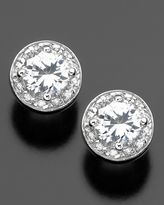 Sterling Silver Cubic Zirconia Pave Stud Earrings (3-1/8 ct. t.w.)