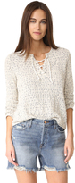 Generation Love Karen Lace Up Sweater