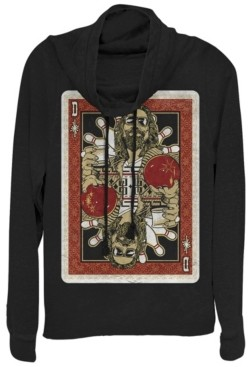 Fifth Sun Big Lebowski Abide Card in the Deck Cowl Neck Sweater