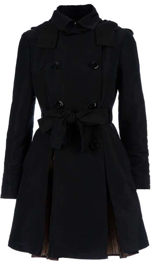 RED Valentino hooded trenchcoat