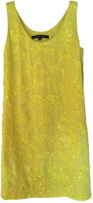 French Connection Yellow Glitter Dress for Women